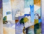 aquarelle august Macke, voyage en tunisie, aquarelle,histoire de l'aquarelle,technique d'aquarelle,le geste du pinceau