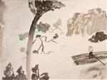encre de chine, peinture chinoise, cours de dessin, atelier enfant, dessiner à Paris, peindre à Paris,