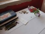 dessiner en extérieur, croquis, aquarelle, cours de dessin,