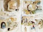 carnet de voyage de Delacroix, aquarelle,histoire de l'aquarelle,technique d'aquarelle,le geste du pinceau