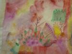 collage, aquarelle, atelier grenelle, art abstrait, cours de peinture, cours d'arts plastiques,
