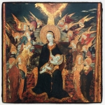 nous avions rendez-vous devant  les fresques peintes par dessiner au louvre,peinture italienne,botticelli,venus et les trois graces,les septs arts botticelli.