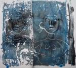 monotype, impression, peinture, cours de dessin, cours de peinture, cours de modèle vivant.