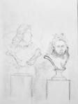 Cour Marly, sculmpture française, Louvre, dessiner au Louvre,