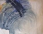 peinture à l'huile, enduit gesso, enduit caparol, papier kraft,