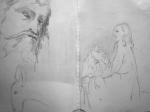 sculpture, sculpture Europe du nord, Vierge, Christ, St Michel, dragon, Christ en Croix, Christ des Rameaux, cours de dessin, Louvre