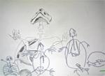 dessin de tortue, ménagerie du jardin des plantes, galerie de paléontologie,