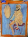 modèle vivant,art du nu,dessin,peinture,art contemporain,gouache,couleur,pinceaux,paris,papier,technique de peinture