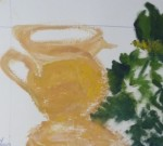 composition, peinture à l'huile, art de la peinture, technique de peinture, couleur, fleurs, nature morte, vie silencieuse, palette de couleur, contraste de couleurs