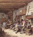 Adrian Van Ostade Tavern, aquarelle,histoire de l'aquarelle,technique d'aquarelle,le geste du pinceau