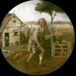 Jérôme Bosch, théorie de la couleur, technique de peinture, Le vagabond, l'enfant prodigue,