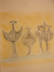 dessiner au Louvre, art des Cyclades, sculpture greque archaique, bronze grec,