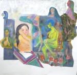 modèle vivant, cours de dessin, cours de peinture, collage