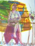 atelier de peinture,diptyque,nature morte,composition d'objets,modèle vivant,art du nu