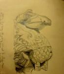 Louvre, dessiner au Louvre, histoire de l'art, hittites, exposition les royaumes oubliés,