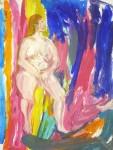 atelier de peinture, diptyque, nature morte, composition d'objets, modèle vivant, art du nu,