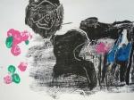 monotype, peinture, modèle vivant