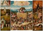Jérôme Bosch, théorie de la couleur, technique de peinture, Bosch Le chariot de foin