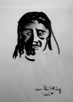 Petit Palais, cours de dessin, Salle des Icones, sculptures de Jean Carries, peinture de Yan Pei Ming,