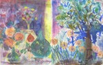 atelier peinture, peinture de fleurs, peinture à l'huile, diptyque, atelier grenelle,
