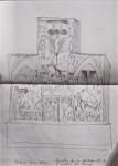 Croquis, dessin, Vierge à l'enfant, Christ en croix, encre de chine, pinceau, image,sculpture, Louvre, photographie d'art, Paris, Marie-Annick Jagu,