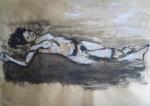 modèle vivant, art du nu, gouache, papier, peinture, couleur,  corps humain, cours de dessin, cours de peinture,