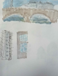 dessin Paris, peindre Paris, aquarelle, croquis, Batobus,