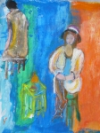 Monmonotype, peinture, modèle vivant