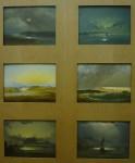 peinture ancienne, gouache, paysage du nord, peinture de paysage, fiord, croquis, dessin, couleur, coucher de soleil, Louvre, Paris,