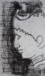 monotype, encre noire, impression en noire, cours de peinture,