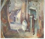 Hubert Robert, Alger, aquarelle,histoire de l'aquarelle,technique d'aquarelle,le geste du pinceau