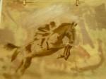 chat,chevaux,peinture animalière,dessin,fusain
