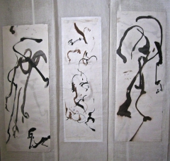 peinture Marie-Annick Jagu, dessin, encred, aquarelle,