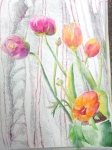 dessin, dessiner les fleurs, dessiner les plantes, confiner chez soi, WhatsApp, aquarelle, crayon, feutre, télétravail,