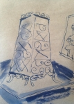 dessiner à la maison, dessiner chez soi, confinement,