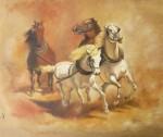 chevaux,peinture à l'huile,peinture de chevaux,évolution dans le travail