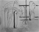 sculpture italienne, sculpture du moyen âge, croquis, dessin, louvre