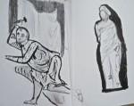 Louvre, cours de dessin, croquis, exposition Chypre entre Bysance et l'occident, art Byzantin,
