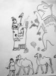 louvre,dessiner au louvre,histoire de l'art,hittites,exposition les royaumes oubliés