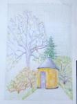 jardin des plantes,dessiner la nature,dessiner la végétation,couleur