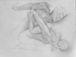 cour marly,sculmpture française,louvre,dessiner au louvre