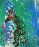 monotype, cours de peinture, modèle vivant