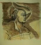 exposition gravure clair obscur, Portrait de Ulrich Varnvüler, dessiner au Louvre, cours de dessin, gravure du