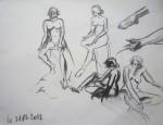 modèle vivant,art du nu,polyptyque,gouache,dessin,pastel,cours de dessin,cours de peinture cours de modèle vivant