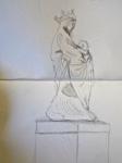 Louvre, scupture française, dessiner au Louvre