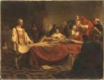 P. Emanuel Leutze, Christophe Colomb devant le grand conseil de Salamanque, 1841 .jpg
