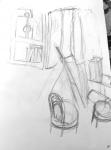 dessiner à la maison, fenêtre,