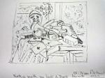 new frontier IV, exposition au louvre, nature morte, peintre américain,cours de dessin, dessiner au musée