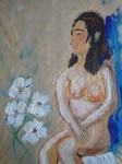 Modèle vivant, art du nu, dessin de nu, peinture, gouache, fusain,